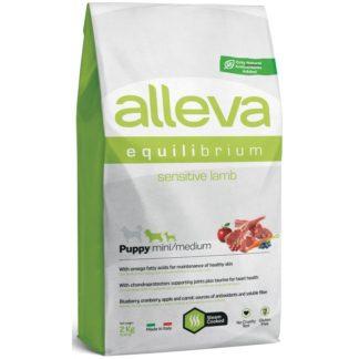 Суха храна ALLEVA EQUILIBRIUM SENSITIVE LAMB PUPPY MINI/MEDIUM за мини и средни породи до 12 м, 2 kg
