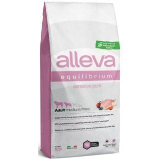 Суха храна ALLEVA EQUILIBRIUM SENSITIVE PORK ADULT MEDIUM/MAXI за едри и средни породи над 12 м, 12 kg