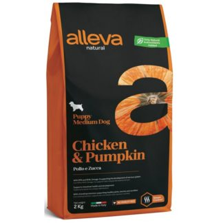 Суха храна ALLEVA NATURAL CHICKEN & PUMPKIN PUPPY MEDIUM за средни породи до 10 м, 800 g