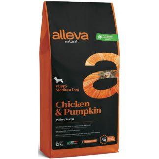 Суха храна ALLEVA NATURAL CHICKEN & PUMPKIN PUPPY MEDIUM за средни породи до 10 м, 12 kg