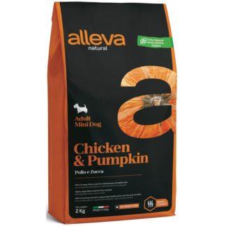 Суха храна ALLEVA NATURAL CHICKEN & PUMPKIN ADULT MINI за мини и дребни породи над 12 м, 2 kg