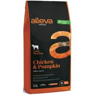 Суха храна ALLEVA NATURAL CHICKEN & PUMPKIN ADULT MAXI за едри породи над 12 м, 12 kg