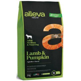 Суха храна ALLEVA NATURAL LAMB & PUMPKIN ADULT MEDIUM/MAXI за едри и средни породи над 12 м, 2 kg