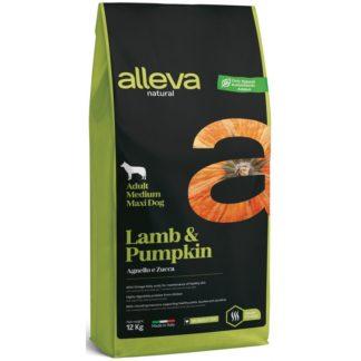 Суха храна ALLEVA NATURAL LAMB & PUMPKIN ADULT MEDIUM/MAXI за едри и средни породи над 12 м, 12 kg