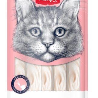 Кремообразно лакомство за котки WANPY CREAMY TUNA & SHRIMPS, тон и скариди, 5 x 14 g (Копие)