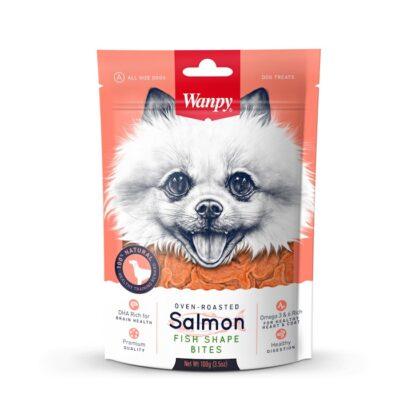 Лакомство WANPY SALMON FISH SHAPE BITES сьомга хапки, 100 g