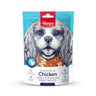 Лакомство WANPY CHICKEN JERKY & CALCIUM BONE калциеви кокалчета с пиле, 100 g