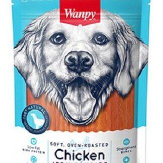 Лакомство WANPY SOFT CHICKEN JERKY STRIPS пилешко филе ленти, 100 g