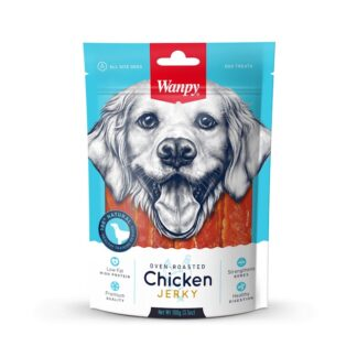 Лакомство Wanpy Chicken Jerky пилешко филе, 100 g