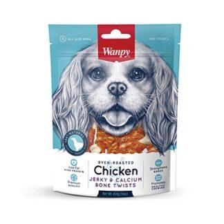 Лакомство WANPY CHICKEN JERKY & CALCIUM BONE калциеви кокалчета с пиле, 454 g