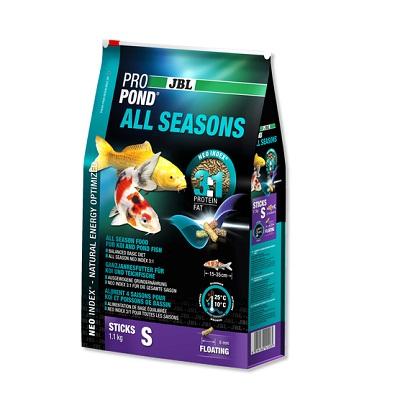 Всесезонна храна на гранули JBL PROPOND ALL SEASONS S за малки езерни риби, 32 l
