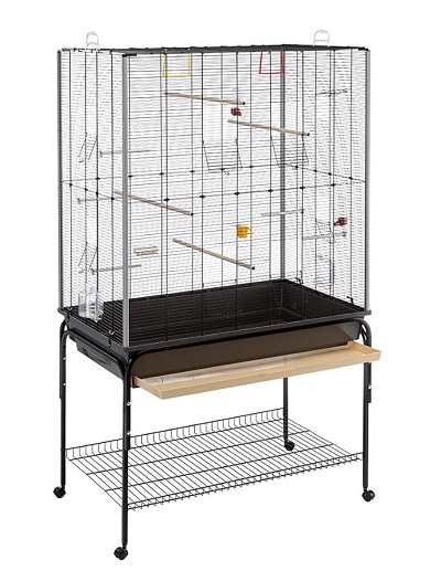 Клетка за птици FERPLAST PLANETA BLACK, 97x58x173,5 cm