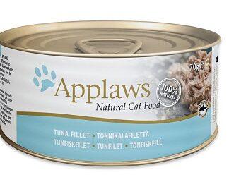 Консерва APPLAWS TUNA FILLET за котки над 1 г, риба тон в бульон, 70 g