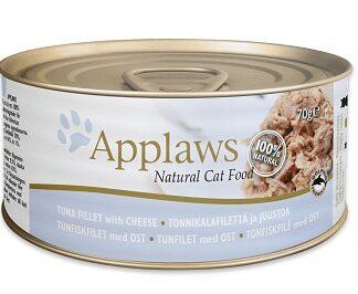 Консерва APPLAWS TUNA FILLET WITH CHEESE за котки над 1 г, риба тон и сирене в бульон, 70 g