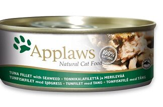 Консерва APPLAWS TUNA FILLET WITH SEAWEED за котки над 1 г, риба тон и водорасли в бульон, 70 g