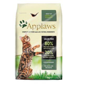 Суха храна APPLAWS ADULT CHICKEN WITH EXTRA LAMB за котки над 12 м. с пиле и агне