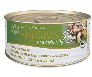 Консерва APPLAWS TUNA WITH SEAWEED IN JELLY за котки над 1 г, риба тон и водоласли в желе, 70 g