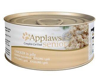 Консерва APPLAWS SENIOR CHICKEN IN JELLY за възрастни котки над 7 г, пиле в желе, 70 g