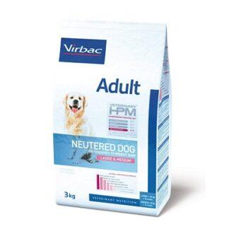 Суха храна VIRBAC VETERINARY HPM ADULT NEUTERED LARGE & MEDIUM за кастрирани кучета от средни и едри породи над 12 м, 12 kg