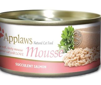 Консерва APPLAWS MOUSSE SALMON фин пастет сьомга, за котки над 1 г, 70 g