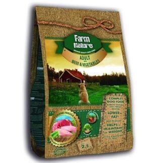 Суха храна FARM NATURE ADULT BEEF AND VEGETABLES за кучета над 12 м