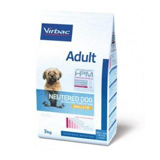 Суха храна VIRBAC VETERINARY HPM ADULT NEUTERED SMALL & TOY за кастрирани кучета от дребни породи над 10 м, 3 kg