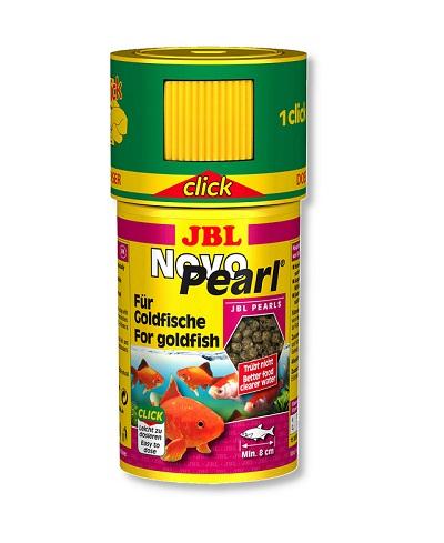 Храна на перли JBL NOVOPEARL CLICK за златни рибки (с дозатор), 100 ml