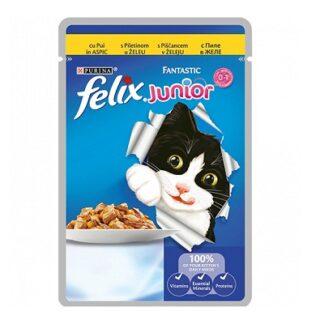 Пауч FELIX FANTASTIC JUNIOR котенца до 12 м, пиле в желе, 100 g