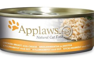 Консерва APPLAWS CHICKEN BREAST WITH CHEESE за котки над 1 г, пиле и сирене в бульон, 70 g