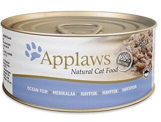 Консерва APPLAWS OCEAN FISH за котки над 1 г, океанска риба в бульон, 70 g
