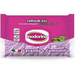 Мокри кърпички INDODORINA REFRESH BIO LAVANDER AND CHAMOMILE, лавандула и лайка, 30 бр.