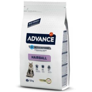 Суха храна ADVANCE CAT HAIRBALL против космени топки, 1.5 kg