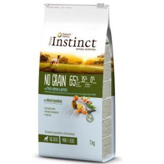 Суха храна TRUE INSTINCT NO GRAIN WITH SALMON AND POTATOES MINI ADULT за кучета дребни породи над 12 м, без зърно, сьомга, 7 kg