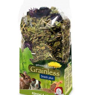 Допълваща храна за гризачи JR GRAINLESS PLUS CARAWAY & DANDELION, 100 g