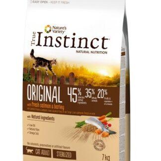 Суха храна TRUE INSTINCT ORIGINAL CAT STERILIZED SALMON за кастрирани котки над 12 м, сьомга, 7 kg