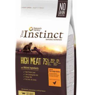 Суха храна TRUE INSTINCT HIGH MEAT FREE RANGE CHICKEN за котки над 12 м, без зърно, пиле, 7 kg