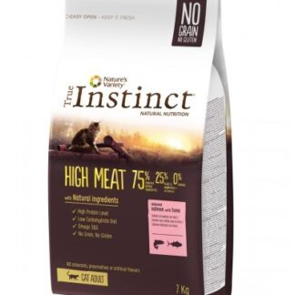 Суха храна TRUE INSTINCT HIGH MEAT DEBONED SALMON WITH TUNA за котки над 12 м, без зърно, сьомга и тон, 7 kg