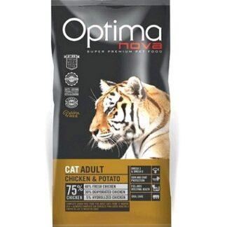 Суха храна OPTIMA NOVA CAT ADULT CHICKEN & POTATO за котки над 12 м, без зърно, пиле и картофи