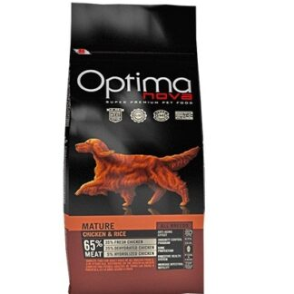 Суха храна OPTIMA NOVA ADULT MATURE CHICKEN & RICE за кучета над 6 години, пиле и ориз, 12 kg