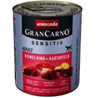 Консерва GRANCARNO SENSITIV ADULT PURE BEEF AND POTATOES монопротеин говеждо с картофи, 800 g