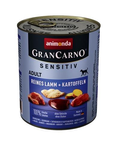 Консерва GRANCARNO SENSITIV ADULT PURE LAMB AND POTATOES монопротеин агне с картофи, 800 g